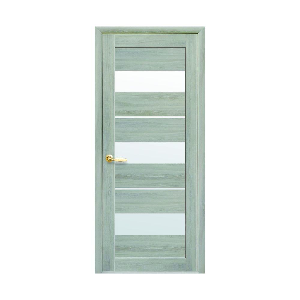 foaie usa de interior 80 cm cu geam lilu frasin patinat
