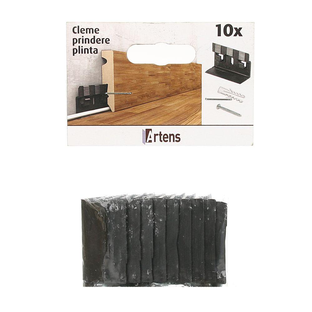 Set 10 Cleme Plinta Mdf Cu Dibluri Si Suruburi