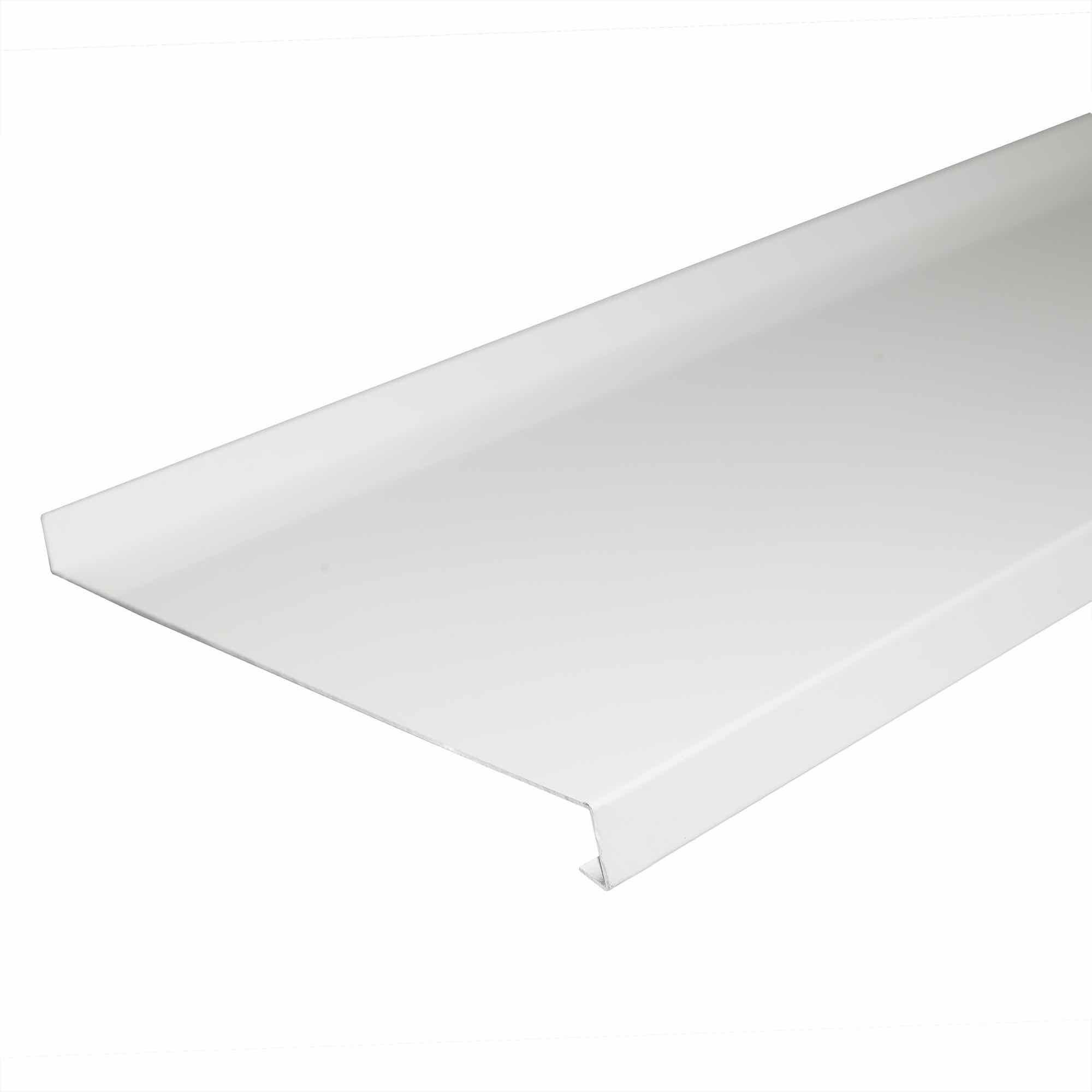 Glaf aluminiu alb 3000 x 200 x 1 mm