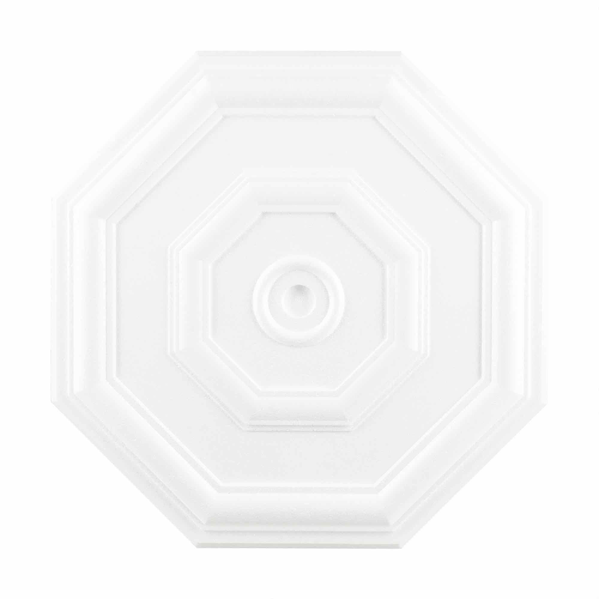 Rozeta polistiren expandat, forma octogonala, diametru 40 cm
