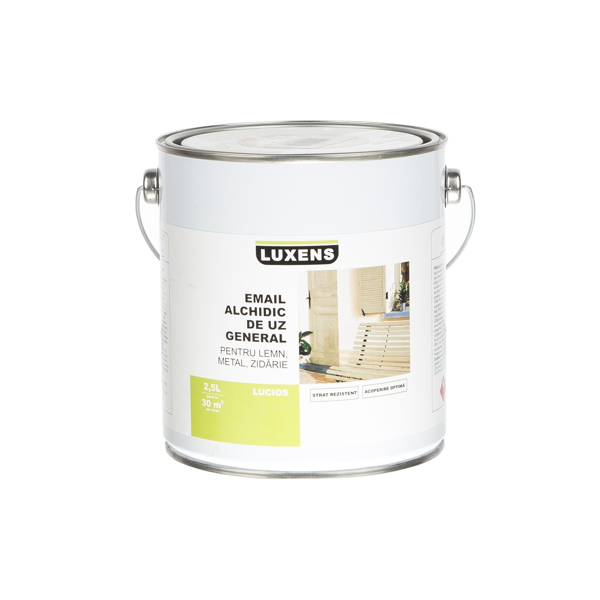 Email solvent Luxens gri antracit 2.5 l