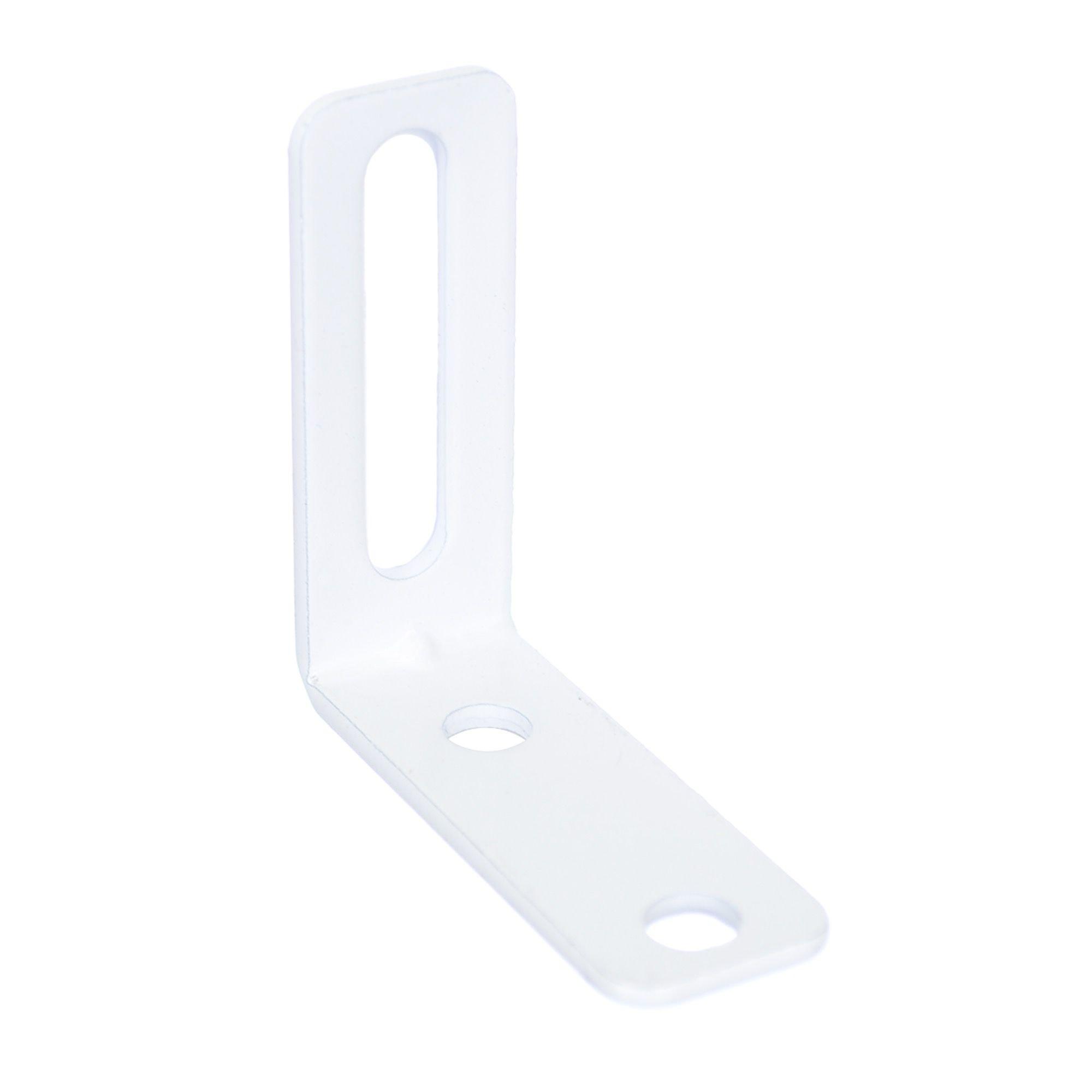 Conector ajustabil alb 55 x 55 x 20 mm