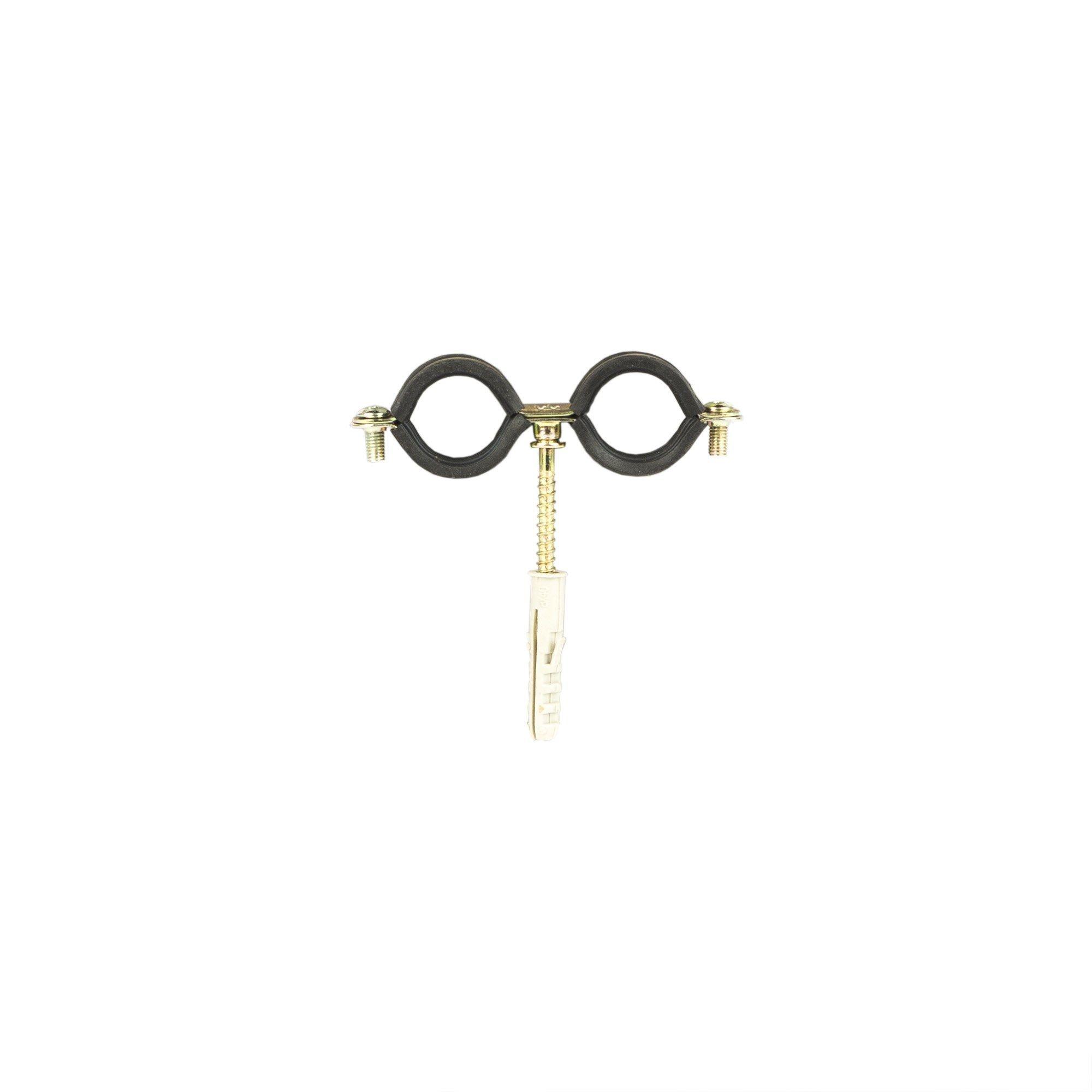 Colier dublu metalic diblu pentru teava D18 mm