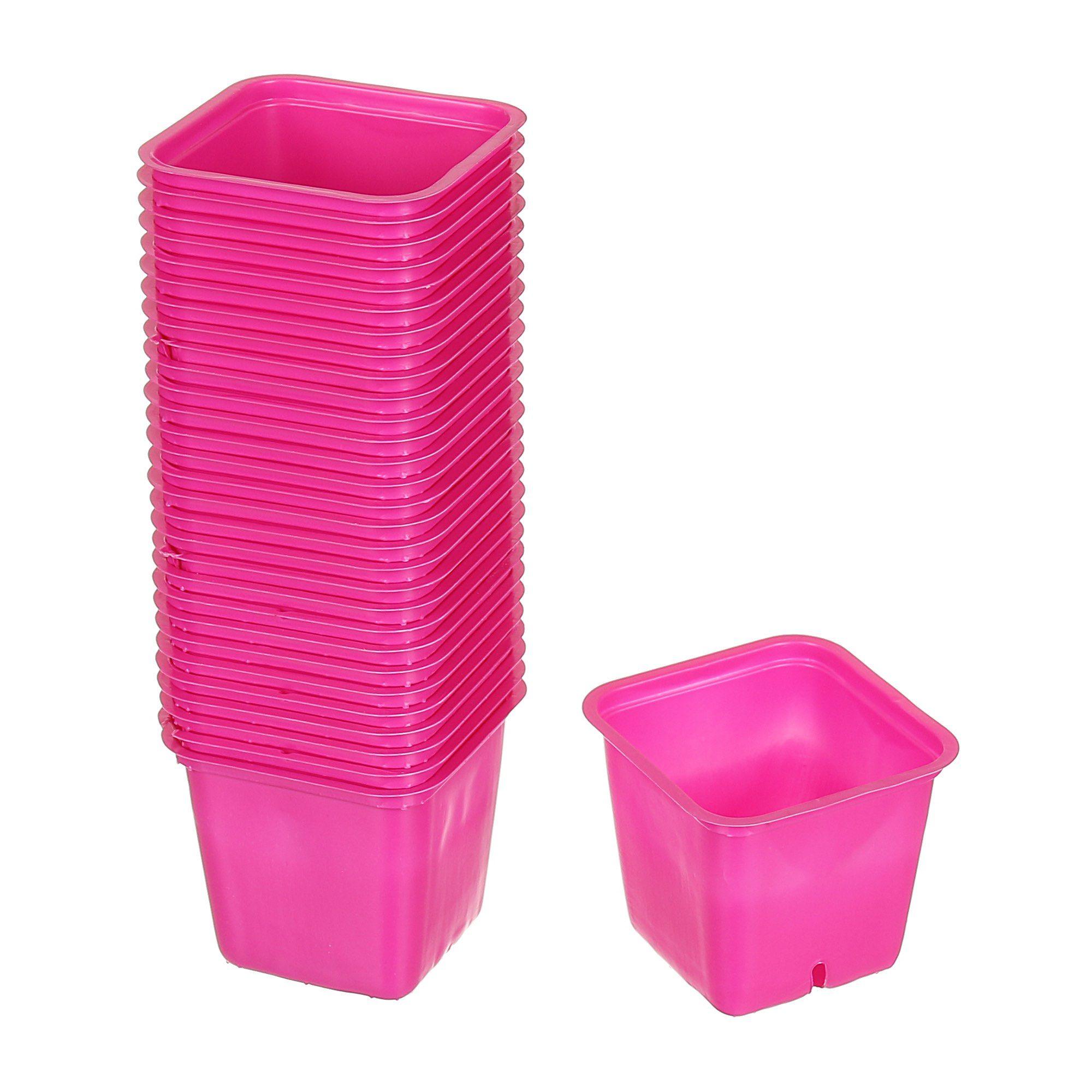 Set 30 buc ghiveci roz pentru rasad 6 x 6 cm