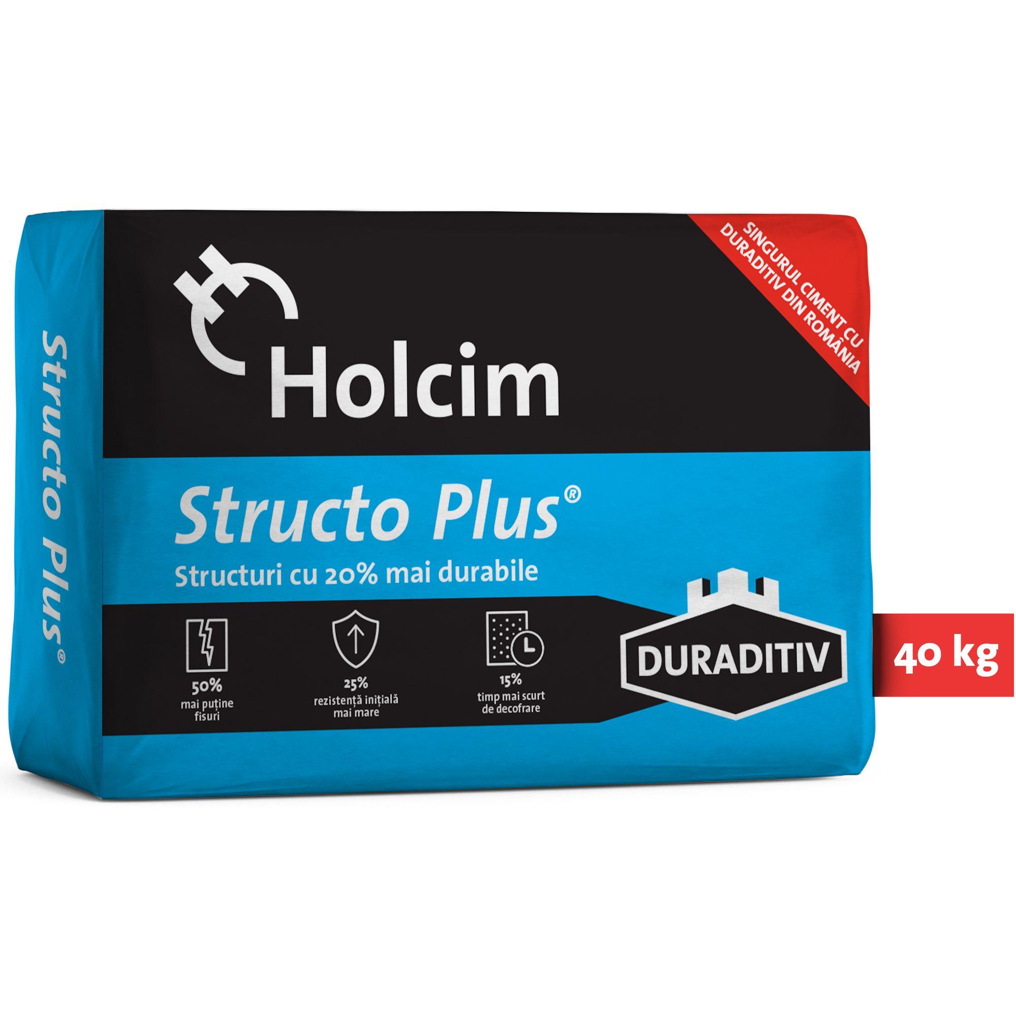 Holcim Structo Plus Ciment Aditivat Gri 425n 40 Kg