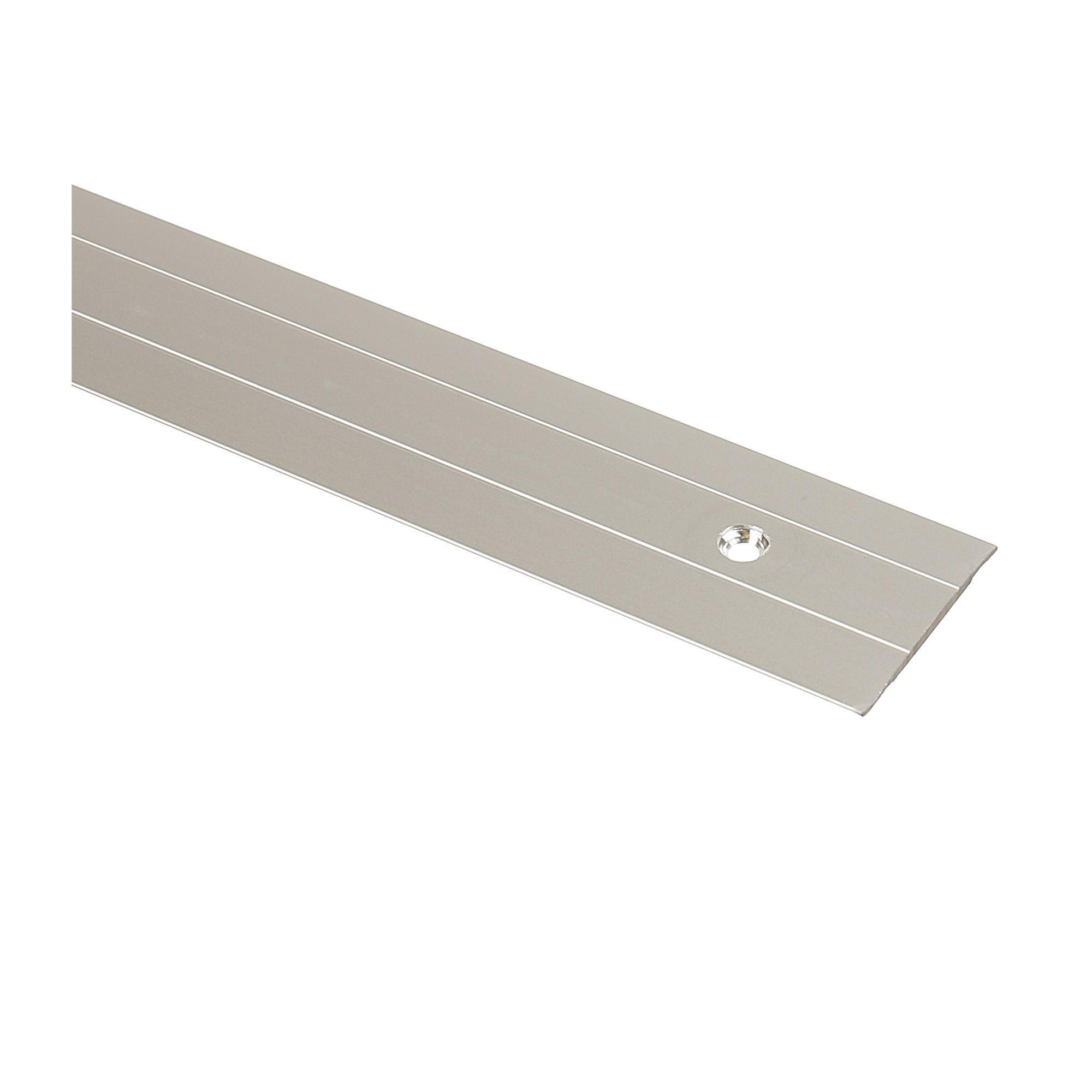 Profil drept 38 mm / 0.9 m aluminiu argintiu