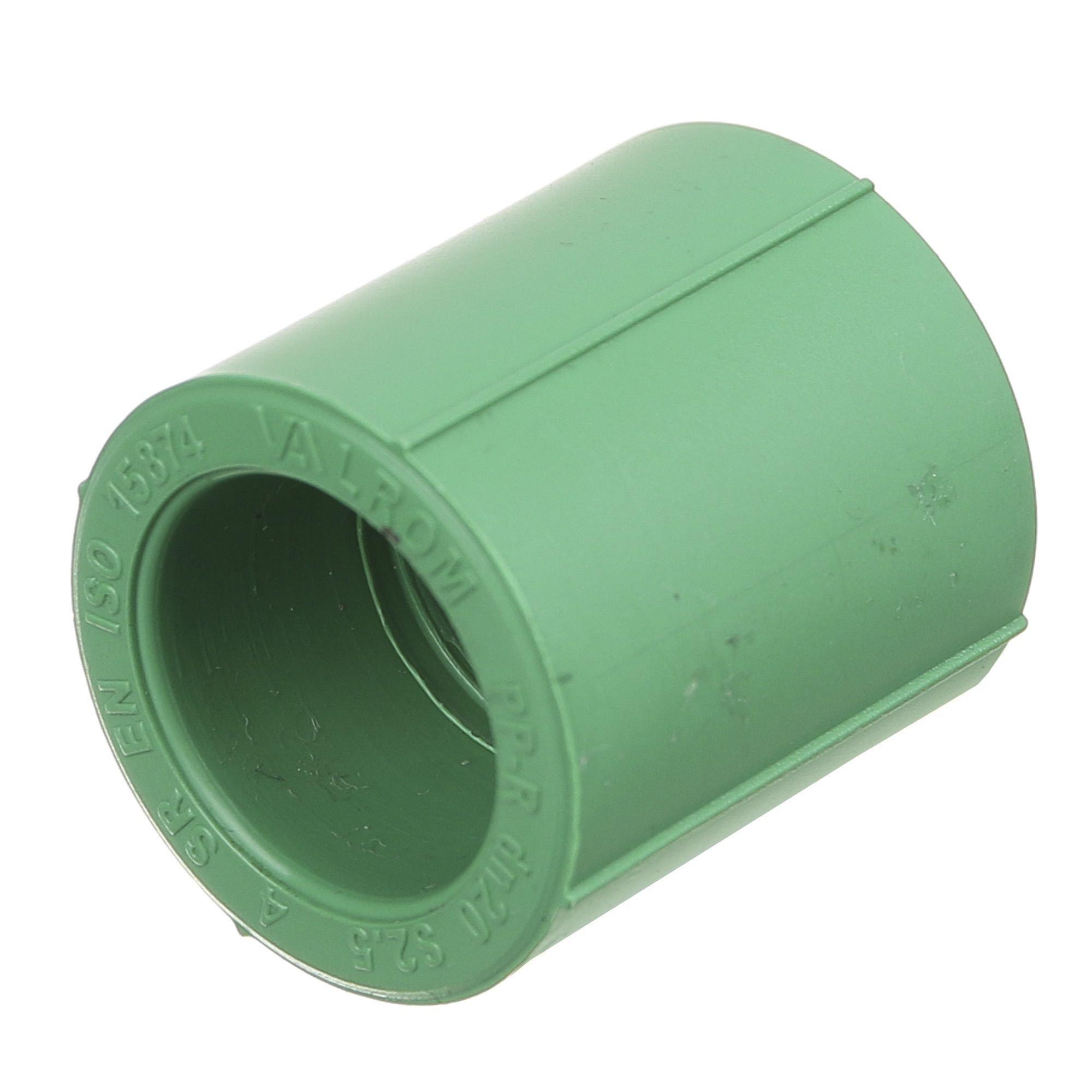 Mufa PPR verde D20 mm PN25