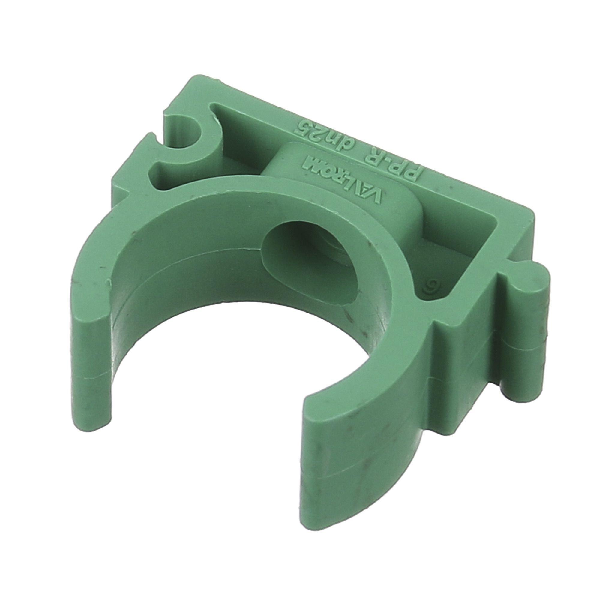 Brida fixare PPR verde D25 mm PN25