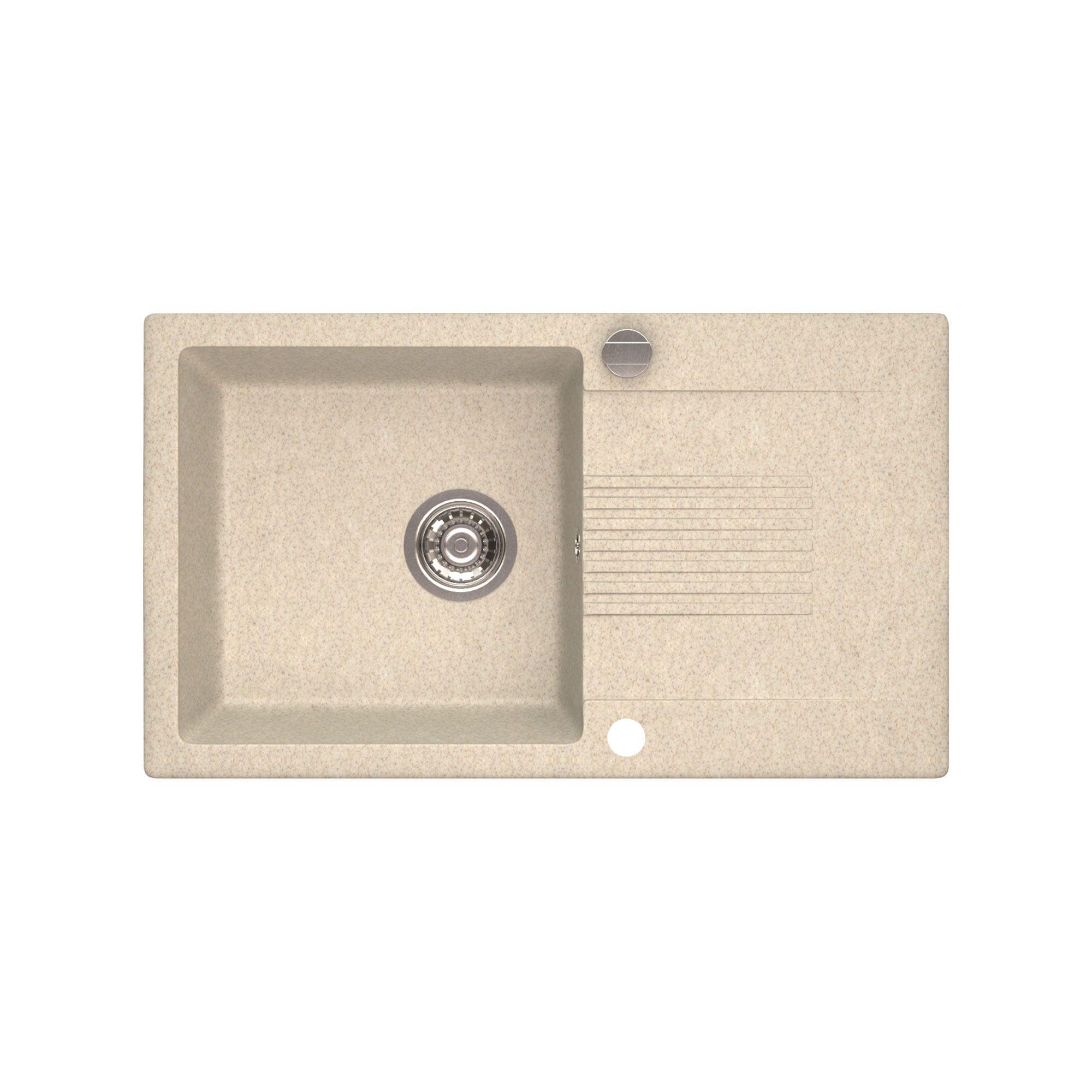 Chiuveta granit Celia bej 76 x 44 x 17 cm 1 cuva 1 picurator