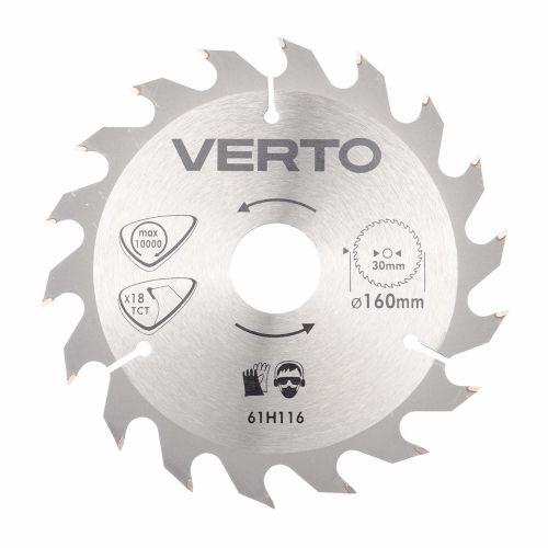Disc circular TPI 18 pentru lemn 160 mm Verto