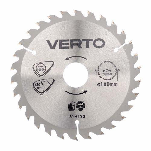 Disc circular TPI 30 pentru lemn 160 mm Verto