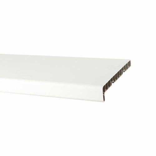 Glaf PVC pentru interior, alb 300 x 25 cm