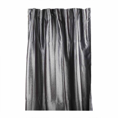 Draperie gri, aspect satinat, 135 x 245 cm, Supreme