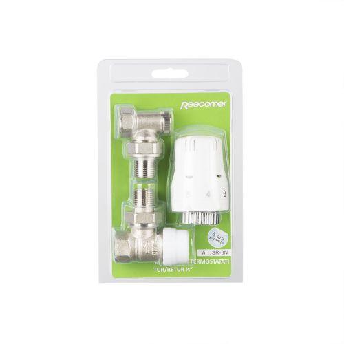 Set robinet tur-retur termostatat 1/2'