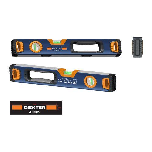 Nivela magnetica aluminiu 2 bule 400 mm Dexter