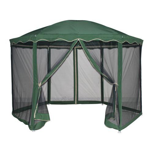 Pavilion verde, metal, 1.8 x 1.8 m
