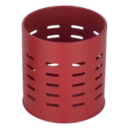 Suport tacamuri stativ metal Ø12.6 cm rosu
