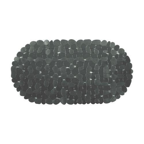 "Covor baie antiderapant oval 36 x 69 cm negru ""Stone"""