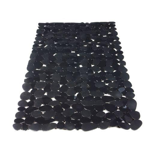 "Covor baie antiderapant 40 x 70 cm negru ""Stone"""