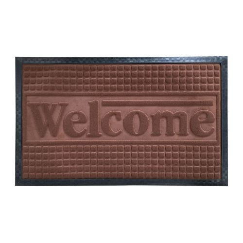 Covoras intrare 55 x 85 cm Welcome maro