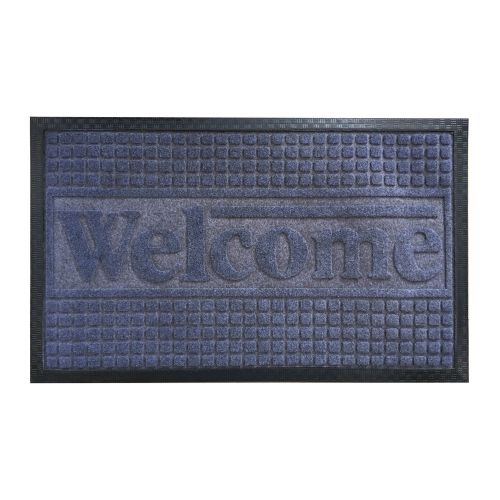 Covoras intrare 55 x 85 cm Welcome gri