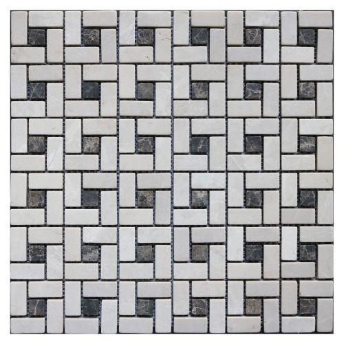 Mozaic 30.5 x 30.5 cm marmura Emperador
