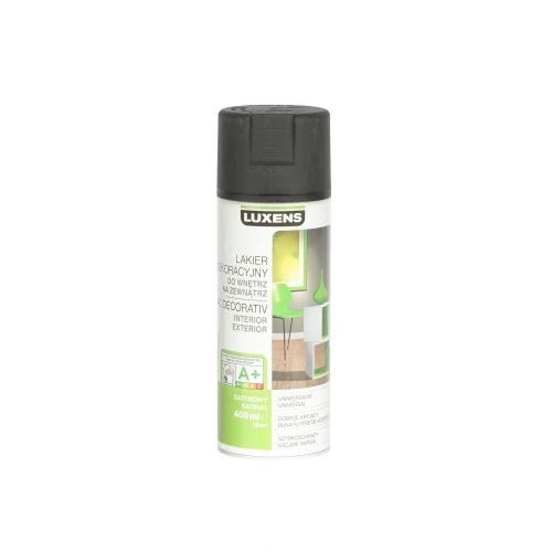Spray satinat Luxens negru 400 ml