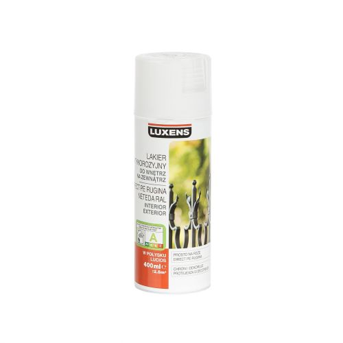 Spray lucios antirugina Luxens alb 400 ml