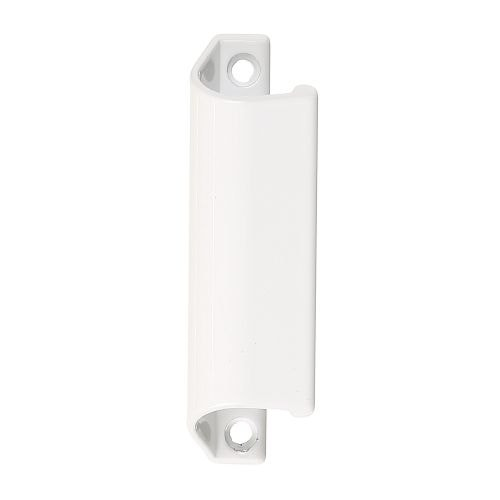Maner scoica din metal pentru usa PVC alb