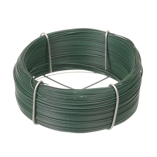 Fir otel plastifiat verde 0.8 mm 75 m