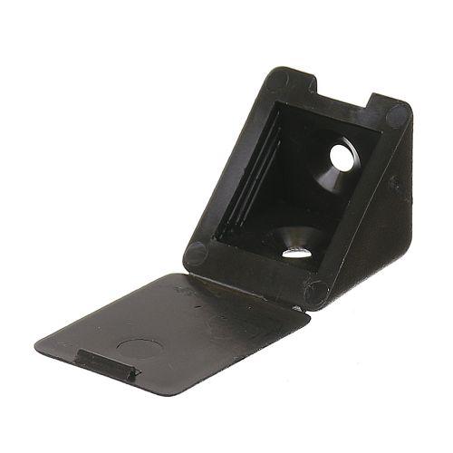Conector plastic 22 x 22 x 23 mm negru