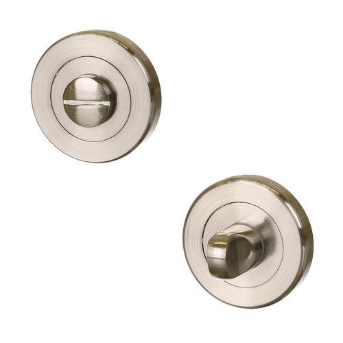 Rozeta cu adaptor patrat pentru usa WC 4 si 6 mm nichelat