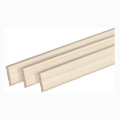 Pervaz drept pentru usa, stejar alb 8 x 70 mm