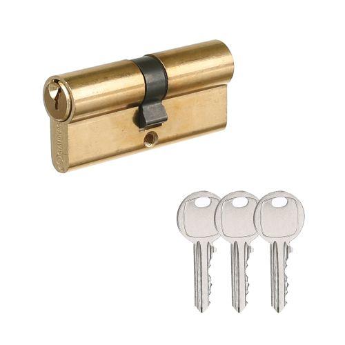Cilindru buton 30 x 30 mm 5 pini 3 chei alamit