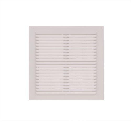 Grila ventilatie 20.4 x 20.4 cm alb plastic