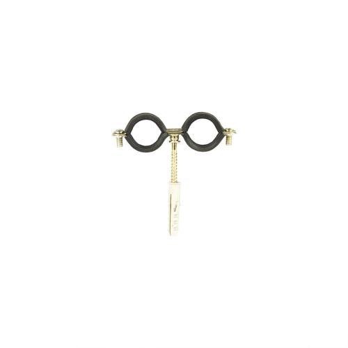 Colier dublu metalic diblu pentru teava D28 mm
