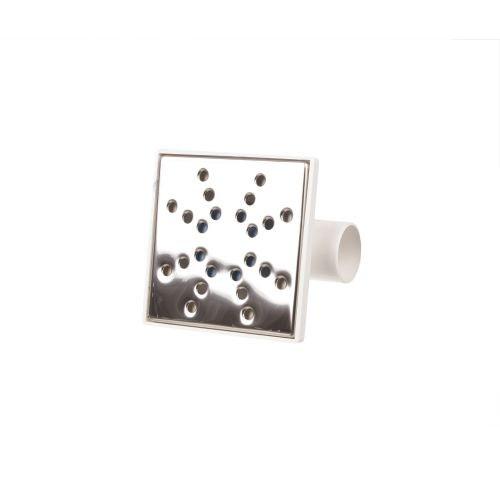 Sifon orizontal 150 x 150 mm D50 H84 inox