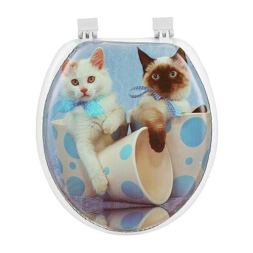 Capac WC cu burete model pisici