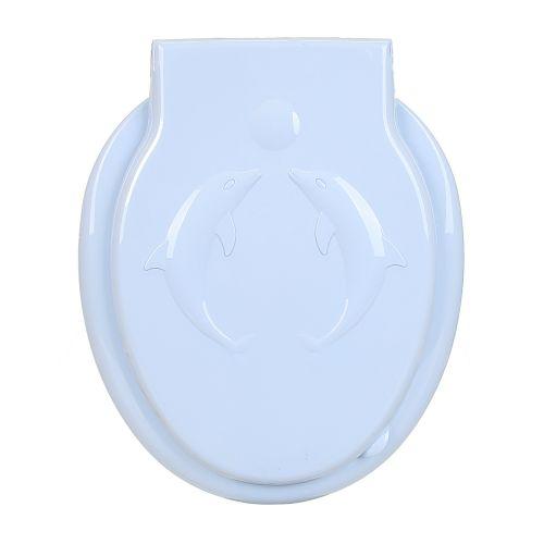Capac WC plastic bleu