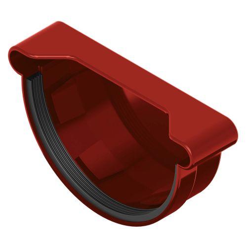 Capac jgheab rosu 120 mm