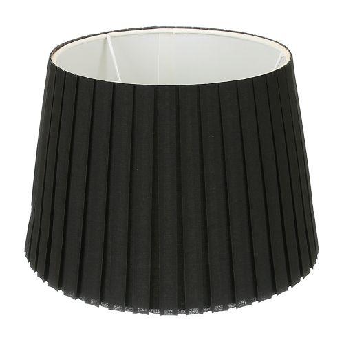 Abajur textil negru, 24.5 cm diametru