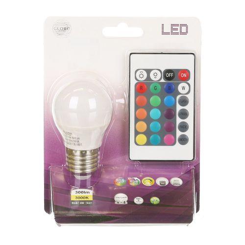 Bec smart LED E27 cu lumina calda si schimbare culoare
