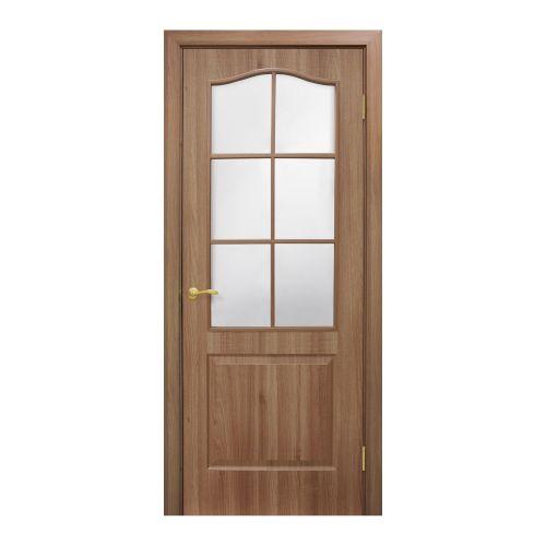 "Foaie usa de interior 60 cm cu geam ""Clasic"" stejar auriu"