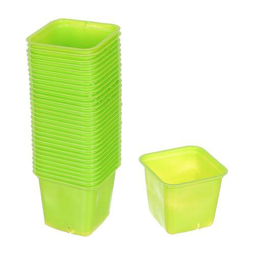 Set 30 buc ghiveci verde pentru rasad 6 x 6 cm