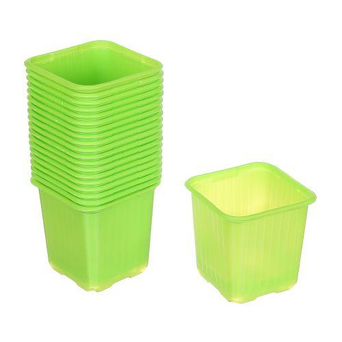 Set 20 buc ghiveci verde pentru rasad 8 x 8 cm