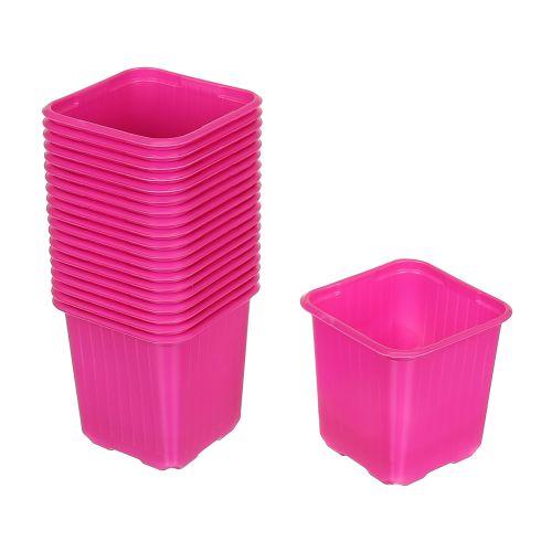 Set 20 buc ghiveci roz pentru rasad 8 x 8 cm