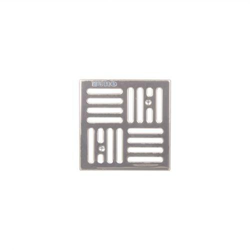 Gratar inox pentru sifon 100 x 100 mm