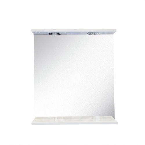 Oglinda cu etajera alb 60 x 55 cm