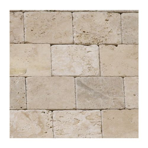 Travertin interior 10 x 10 x 1 cm Classic Tumbled