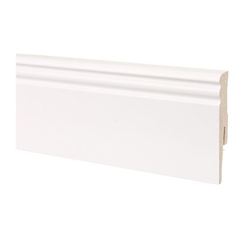 Plinta MDF 2400 x 80 mm alb